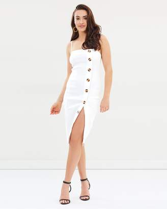 Missguided Strappy Button Front Midi Dress