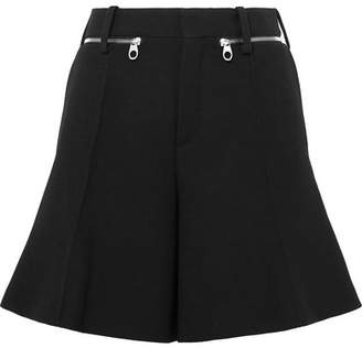Chloé Wool-crepe Shorts - Black