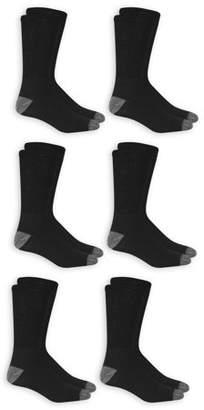 Athletic Works Men's Big & Tall Odor Resistant Crew Socks 6 Pack