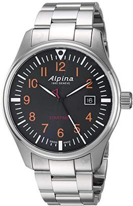 Alpina Men's 'Startimer' Swiss Quartz Stainless Steel Casual Watch