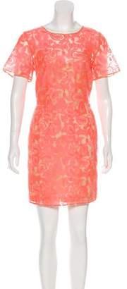 Veronica Beard Short Sleeve Midi Dress