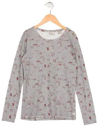 Scotch & Soda Girls' Graphic Long Sleeve Top