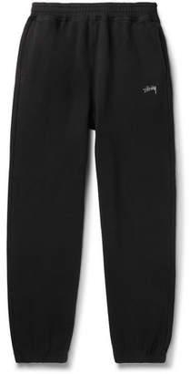 Logo-Embroidered Fleece-Back Cotton-Jersey Sweatpants