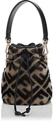 Fendi Women's Mon Tresor Mini Shearling Bucket Bag