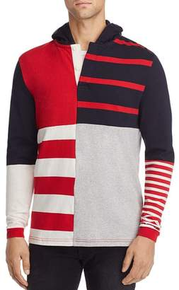 Tommy Hilfiger Striped Relaxed Hooded Sweatshirt