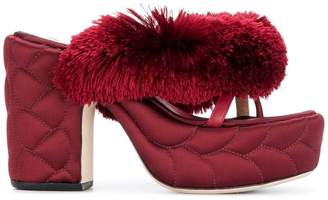 Marco De Vincenzo textured platform sandals