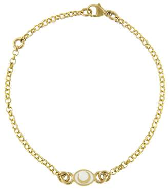 Foundrae White Karma Crescent Sequence Bracelet