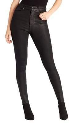 Ella Moss Super Sleek Coated Skinny Ankle Jeans