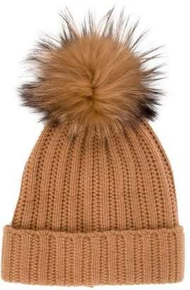 Amicale Fur-Trimmed Cashmere Hat