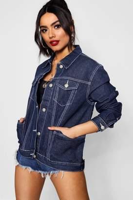 boohoo Contrast Stitch Denim Jacket