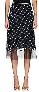 Cynthia Rowley WOMEN'S FLORAL-EMBROIDERED MESH SKIRT SIZE 8