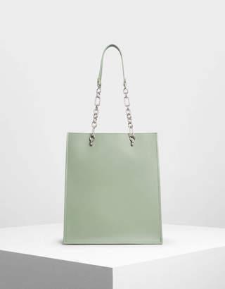 Charles & Keith Chain Strap Handle Tote Bag