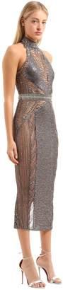 Julien Macdonald Embellished Halter Neck Dress