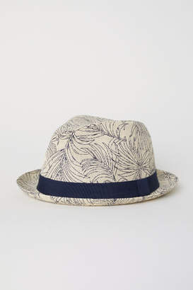 H&M Patterned Straw Hat - Beige