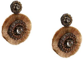 Crown Vintage Disc Fringe Drop Earrings - Women's