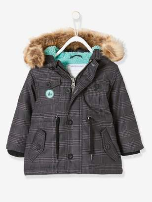 Vertbaudet Parka with Hood & Plush Knit Lining, for Baby Boys