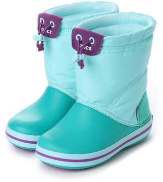 Crocs (クロックス) - クロックス crocs ジュニア ロングブーツ crocband lodgepoint boot kids 203509 4415