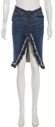 Just Cavalli Denim Knee-Length Skirt
