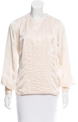 Christian Dior Silk Long Sleeve Top