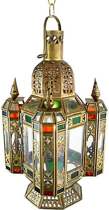 One Kings Lane Vintage Moroccan Hanging Lantern - Acquisitions Gallerie