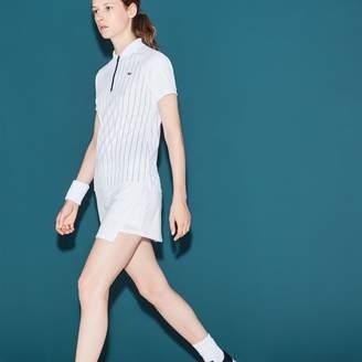 Lacoste Women's SPORT Tennis Technical Jersey Wraparound Skirt