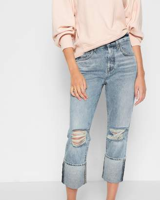 7 For All Mankind Rickie Boyfriend with Wide Cuff in Mineral Desert Springs