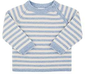 Barneys New York Infants' Striped Cashmere Sweater - Blue