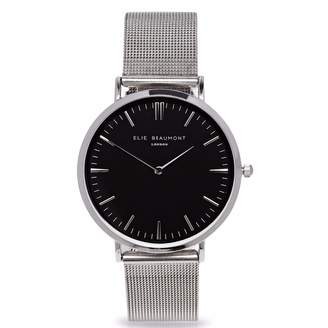 Beaumont Elie Oxford Small Silver Black Dial Mesh