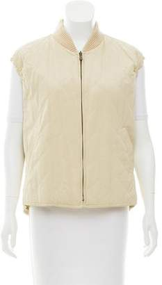Loro Piana Quilted Rib Knit-Trimmed Vest