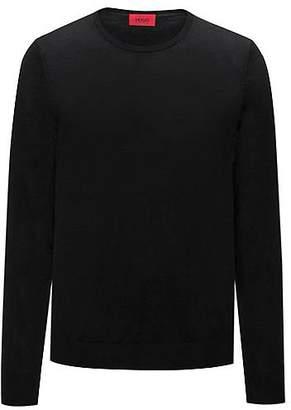 HUGO BOSS Crew-neck sweater in a lightweight merino wool blend