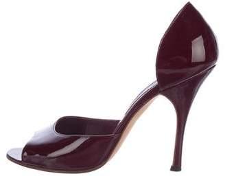 Manolo Blahnik Patent Leather d'Orsay Pumps