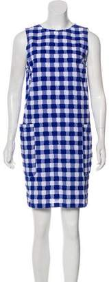 M.D.S. Stripes Checkered Tent Dress