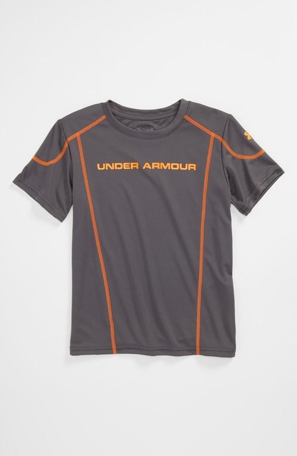 Under Armour 'Zero to Sixty 2.0' HeatGear T-Shirt (Little Boys) Royal/ Yellow 4