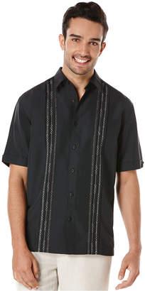 Cubavera Geometric Tucks Short-Sleeve Shirt