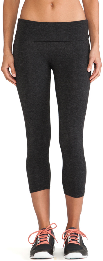 So Low SOLOW Basics Fold Over Crop Legging