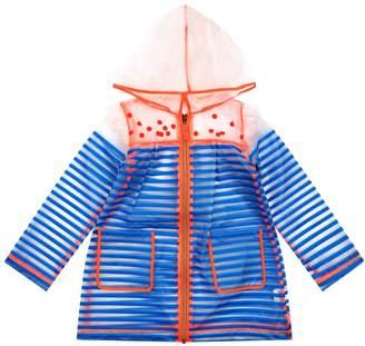 Billieblush Striped Transparent Hooded Raincoat