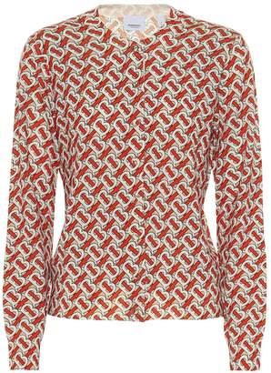 Burberry Monogram merino wool cardigan