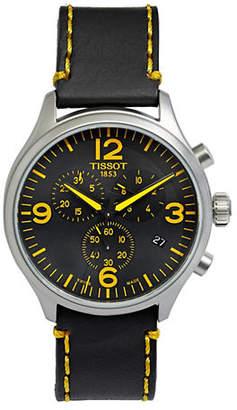 Tissot Mens Leather Strap Sports Watch