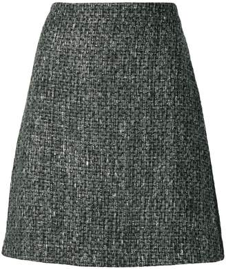 Blumarine A-line tweed skirt