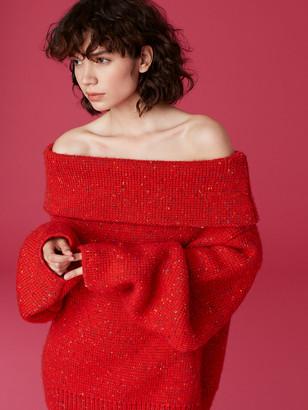 Diane von Furstenberg Oversized Chunky Turtleneck Sweater