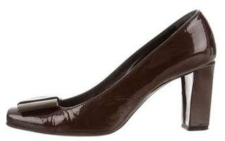 Barneys New York Barney's New York Patent Leather Bow Pumps
