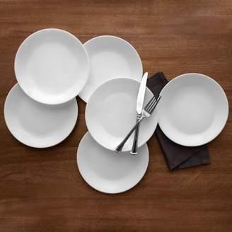 "Corelle Livingware Winter Frost White 8.5"" Lunch Plate, Set of 6"