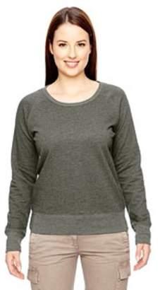 econscious Ladies' 7 oz. Organic/Recycled Heathered Fleece Raglan Pullover EC4505
