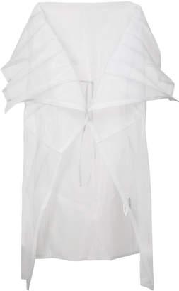 Issey Miyake 132 5. pleated sheer cape cardigan