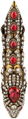 Gucci Snake finger ring with crystals