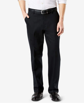 Dockers New Men Signature Lux Cotton Relaxed Fit Pleated Stretch Khaki Pants