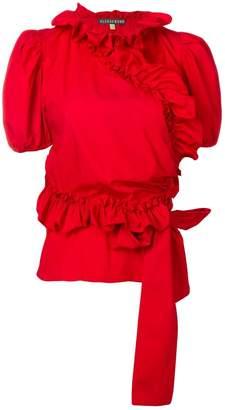 ALEXACHUNG Alexa Chung ruffled wrap blouse