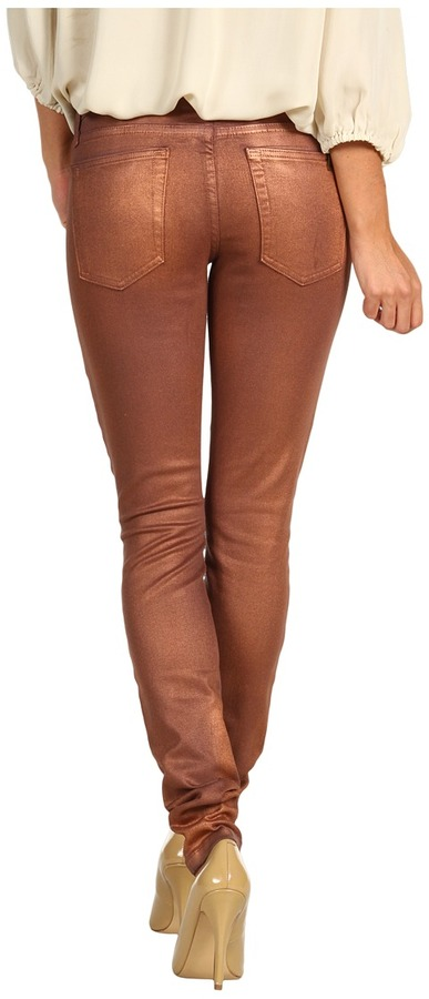Joe's Jeans The Skinny in Two Toned Waxed (Copper) - Apparel