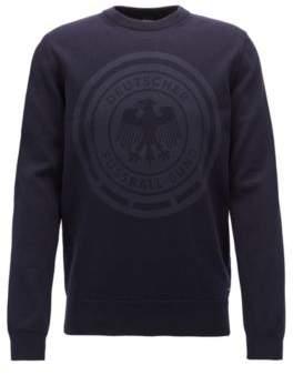 BOSS Hugo Cotton sweatshirt logo print L Dark Blue