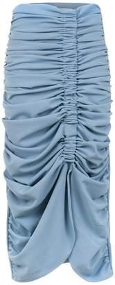 Framed midi pleated skirt
